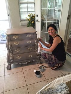 I had the privilege to paint a cool piece of furniture for a customer. This is the before pictureI will share what I used for this transformation. First, I painted two coats of Coco color ASCP. Ne…