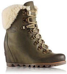 2aa3e55c027 Sorel Women s ConquestTMÂ Wedge Shearling Boot Shearling Boots
