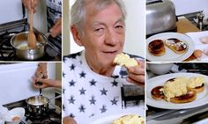 Sir Ian McKellen shares family recipe for perfect scrambled eggs