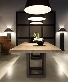 Today we bring you the best Dining Room Lighting Ideas to inspire you with different dining room lamps from contemporary lighting to modern lighting. Wood Table Design, Dining Room Design, Dining Room Table, Table And Chairs, Dining Furniture, Furniture Design, Home Interior Design, Interior Decorating, Interior Architecture