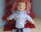 Guardian Angel doll, fabric doll Cailyn, handmade, Christmas, School begin, baptism, baby shower, Get-well doll, Waldorf