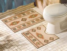 Create a luxurious look in your room with Southwestern Rugs Elegant bathroom mat rugs from collections etc southwest bathroom mat rugs southwestern bathroom rugs Bathroom Shelf Decor, Washroom, Bathroom Mat, Budget Bathroom, Bath Mat, Bathroom Ideas, Unique Rugs, Modern Rugs, Small Tiled Shower Stall