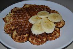 banana wafles Nutella, Waffles, French Toast, Brunch, Banana, Breakfast, Kitchen, Recipes, Food