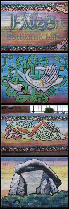 Colorful Cultural Murals in Belfast