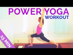 Fast and Easy Power Yoga Workout in 15 Minutes - One of the best power yoga workouts I've seen! Super quick and gets you sweating!