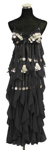 Belly Dance Bra Top & Hip Belt with Fringe & Coins Costume Set --Black 34 B,C Belly Dance Costume http://www.amazon.com/dp/B005C4YB54/ref=cm_sw_r_pi_dp_i0G3ub0BZ9ZJ0