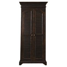 Pairing a rich tobacco finish with 2 louvered doors, this classic cabinet brings country-chic appeal home. 4 drawers and 2 adjustable shelves add a variety o...