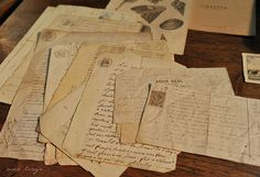 I miss receiving old fashioned letters and postcards!