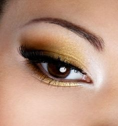 Gold and copper are really nice eyeshadow colors--especially for brown eyes ;) #food
