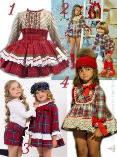 Vestido niña cuadros