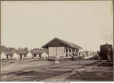 Halte tram di Bululawang, Malang 1911 Foto: Jahn's Drukkerij, NV Dutch East Indies, Malang, Java, Memories, House Styles, Nostalgia, Memoirs, Souvenirs, Remember This