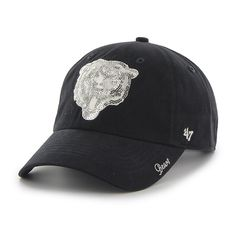64370b0a3 Chicago Bears Sparkle Team Color Clean Up Navy 47 Brand Womens Hat