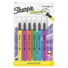 No highlighter shines as bright. Gotta remember this, gotta do that, gotta go there, gotta see everything. Perfect for when info is high priority and precision is a must, Sharpie Clear View Highlighters make everything highly visible. These highlighters feature innovative see-through tips that eliminate blind spots while you highlight, so you always know when to stop marking for straighter, more exact lines. With brilliant colors in transparent, quick-drying ink, Sharpie highlighters make…