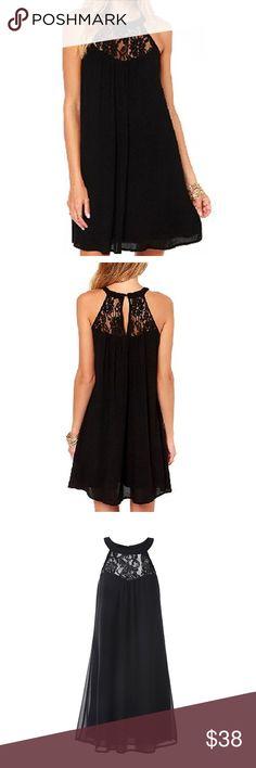 Wonderful little black dress. 👗 BNWT Little black dress. Chiffon. Medium. Dress it up or down. Flattering to all figures! Vanderfia Dresses Mini
