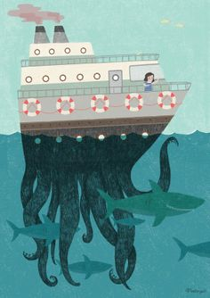 Magic Shark by Marta Angel, via Behance
