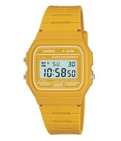 Casio F-91WC-9AEF Mens Yellow Digital Watch -- Click on the image for additional details.