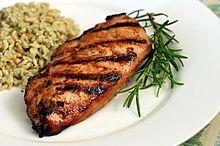 Grilled Chicken with Raspberry Rosemary Marinade recipe- Dinner #glutenfree #dairyfree #freezercooking