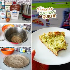 Fitness cuketový quiche - zdravý recept Bajola Quiche, French Toast, Good Food, Food And Drink, Baking, Breakfast, Recipes, Fitness, Morning Coffee