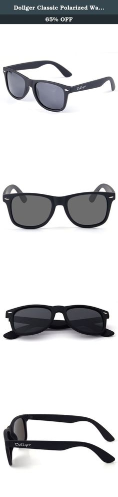 f796e0ba67 Dollger Classic Polarized Wayfarer Sunglasses Horn Rimmed Frame Reflective  Mirror Lens (Black Lens+Matte