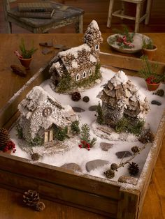 Winter Fairy Houses, set of 3 from Gardener's Supply