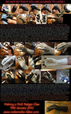 Latex claw glove tutorial