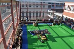 Rooftop garden and play deck at CHOP
