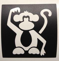 Monkey glitter tattoo stencil.  www.sparkletattoo.ca
