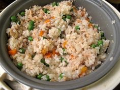 I Believe I Can Fry: Salmon & Vegetable Rice, Cooked in a Rice Cooker