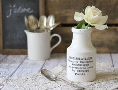 vintage mustard jar ceramic - Google Search