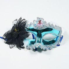 Masquerade Masks Turquoise Black - 1 Mask