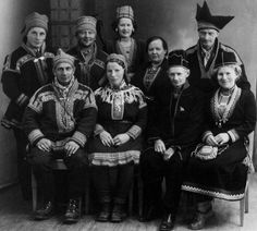Participants on a national congress for Sami reindeer herders held in Mosjøen, Norway in 1950.
