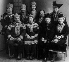 Participants on a national congress for Sami reindeer herders held in Mosjøen, Norway in 1950.