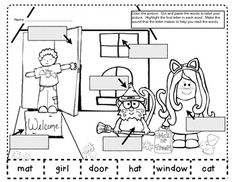 OCTOBER LABELING ACTIVITIES-BEGINNING SOUNDS/MORNING WORK - You will get 4 pages of labeling activities for OcTober. Color the picture.  Highlight the first letter in each word.  Make the sound that the letter makes to help you read the words. Cut out the words and paste them to label your picture. Perfect for  morning work or  small groups.   $
