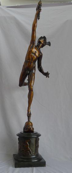 Hermes Statue, Greek Gods, Cherub, Mercury, Bronze, Antiques, Antiquities, Antique, Old Stuff
