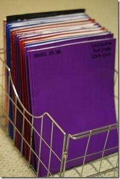 How I plan to organize the school year...this is the best system I've found!  Love it!
