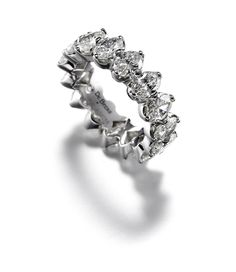 wedding band from de beers allegria full oval cut diamond band indianweddings
