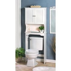 Decorative bathroom storage cabinet instantly adds ample room above your commode for towels, toiletries, and other essentials while enhancing your powder room decor. Some assembly required. Nantucket Bathroom Space Saver. | eBay!