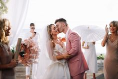 Alexa and Jake created a modern luxe all-white wedding at Noku Beach House in Seminyak, and it was seriously magic! See all of the stunning details. Bali Wedding, Our Wedding, Destination Wedding, Bridesman, All White Wedding, Floral Hair, Bridesmaid Dresses, Wedding Dresses, Newlyweds