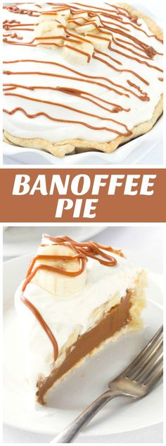 Easy to make Banoffee Pie recipe - from RecipeGirl.com
