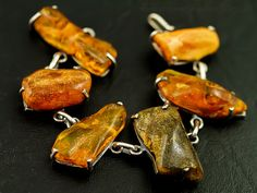 Baltic amber and sterling bracelet
