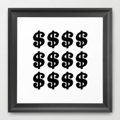 #black #white #dollar #sign #project