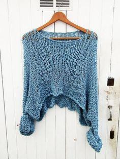 Tejido a mano  suéter  Plus tamaño por armarioenruinas en Etsy