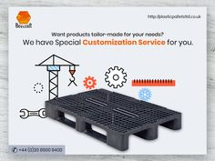 If you cannot find any product that suits your business need, we will customize our products for you. We offer customized pallets, crates and other products specially made to cater to your requirements. Information About Plastic, Pallet Manufacturers, Plastic Pallets, Pallet Crates, Plastic Containers, Catering, Old Things, Suits, Business