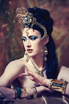 Get the Cleopatra look like burlesque dancer, Miss Betsy Rose http://www.burlexe.com/burlesque-costume-ideas-miss-betsy-rose/