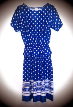 Pop Art MOD 80s Dress in Polka Dots and by MoneyCanBuyHappiness, $28.00
