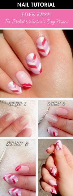 Valentine's Day is approaching, and what better way to celebrate the holiday than with this fun nail art tutorial?! This red, white, and pink manicure is easy and we'll show you how to do it in a few simple steps.