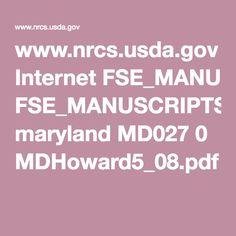 www.nrcs.usda.gov Internet FSE_MANUSCRIPTS maryland MD027 0 MDHoward5_08.pdf