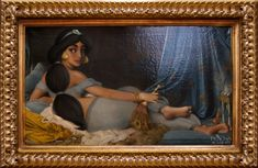 Portrait of Jasmine (inspired by Ingres' Grande Odalisque) in the Disney Princess Academy. Posted on dailydot.com (image credit David Kawena) by Aja Romano.