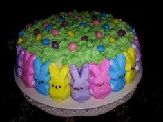 The Peeps Cake.  juliescakes.com.