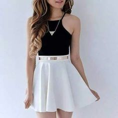 Komplette Outfits, Cute Casual Outfits, Skirt Outfits, Pretty Outfits, Spring Outfits, Cute Outfits With Skirts, Pretty Clothes, Girls Fashion Clothes, Teen Fashion Outfits